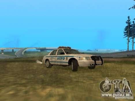 Ford Crown Victoria NYPD Police für GTA San Andreas zurück linke Ansicht