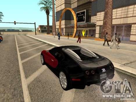 Bugatti Veyron für GTA San Andreas linke Ansicht