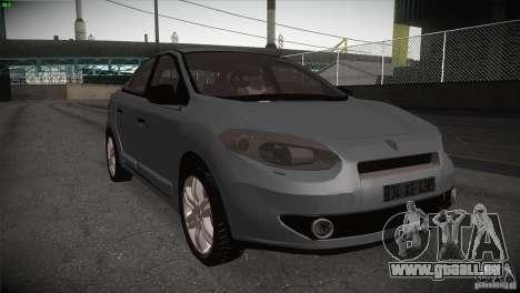 Renault Fluence pour GTA San Andreas vue intérieure