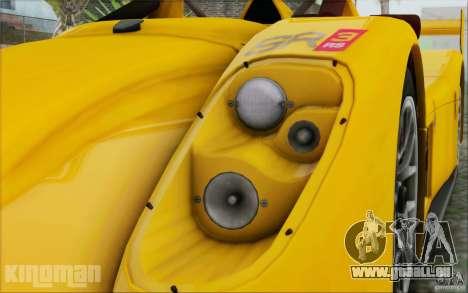 Radical SR3 RS 2009 pour GTA San Andreas vue de droite