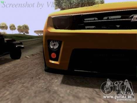 Chevrolet Camaro ZL1 2012 für GTA San Andreas obere Ansicht