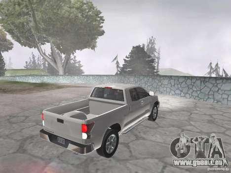 Toyota Tundra pour GTA San Andreas sur la vue arrière gauche