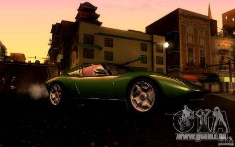 Lamborghini Miura Concept für GTA San Andreas Rückansicht