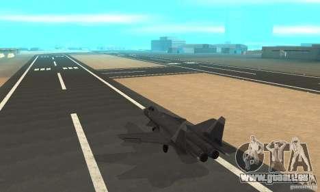 Su-47 Berkut Stanardarbeitsplan für GTA San Andreas zurück linke Ansicht