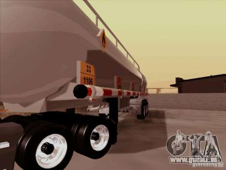 Anhänger Kenworth T2000 für GTA San Andreas Rückansicht