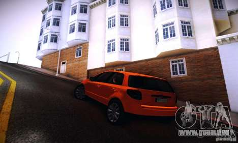 Suzuki SX4 Sportback Black 2011 pour GTA San Andreas laissé vue