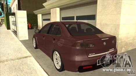 Proton Inspira v1 pour GTA San Andreas sur la vue arrière gauche