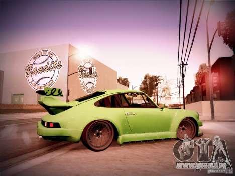 Porsche 911 Turbo RWB Pandora One für GTA San Andreas Rückansicht
