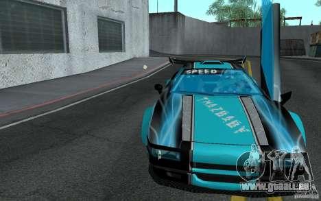 Baby blue Infernus pour GTA San Andreas vue arrière