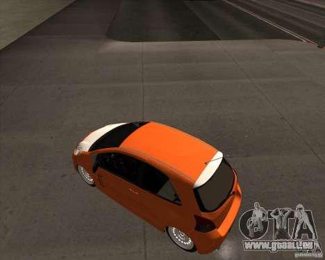 Toyota Yaris II Pac performance pour GTA San Andreas sur la vue arrière gauche