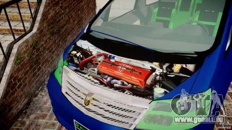 Toyota Alphard 2007 pour GTA 4 est une vue de l'intérieur