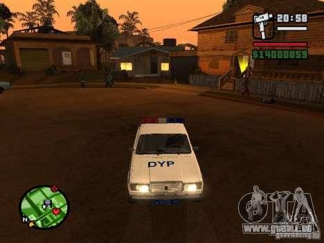 DYP 2107 police pour GTA San Andreas laissé vue