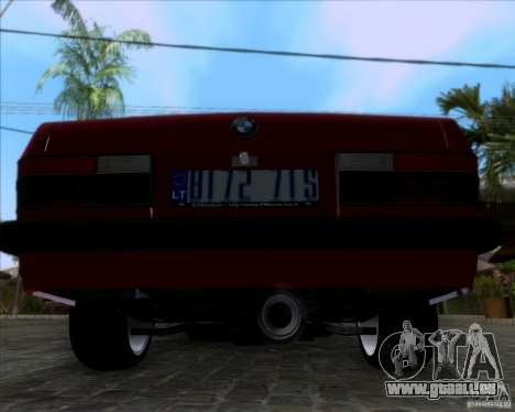 BMW 5-er E28 pour GTA San Andreas vue arrière
