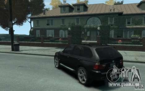 BMW X5 (E53f) 2004 pour GTA 4 Vue arrière de la gauche