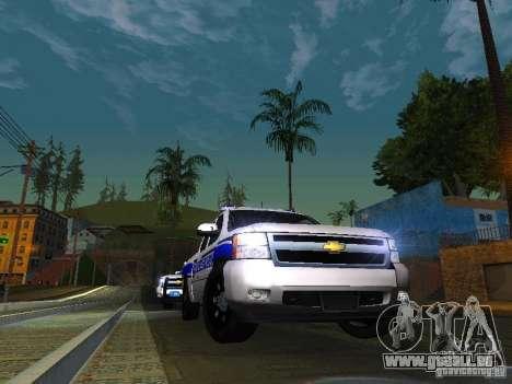 Chevrolet Silverado Rockland Police Department für GTA San Andreas Rückansicht