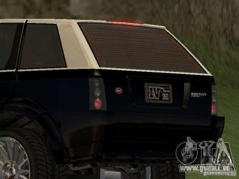 Huntley dans GTA IV pour GTA San Andreas sur la vue arrière gauche