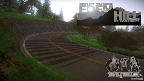 Edem Hill Drift Track pour GTA San Andreas