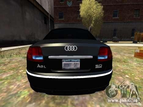 Audi A8L W12 pour GTA 4 est un droit