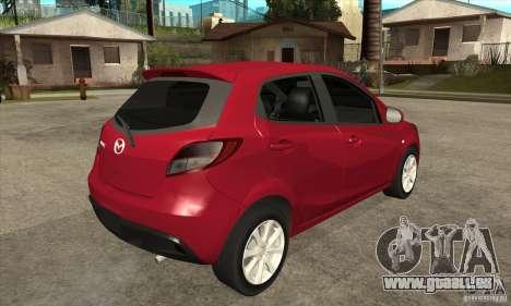 Mazda 2 2011 für GTA San Andreas rechten Ansicht