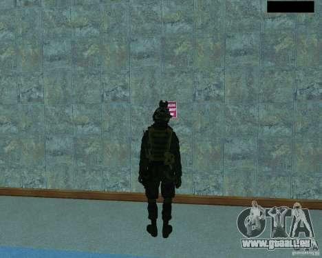 Le troisième soldat de la peau de Cod MW 2 pour GTA San Andreas troisième écran
