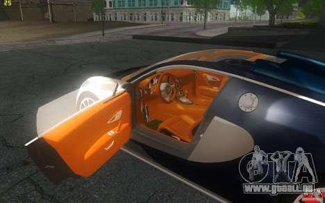 Bugatti Veyron 16.4 Grand Sport Sang Bleu pour GTA San Andreas vue arrière