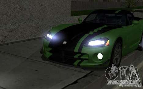 Dodge Viper ein wenig tuning für GTA San Andreas Rückansicht