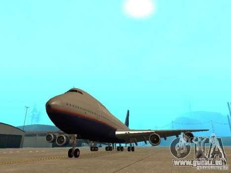 Boeing 747-100 United Airlines für GTA San Andreas Rückansicht
