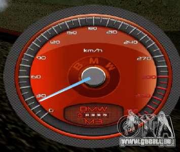 Compteur de vitesse BMW pour GTA San Andreas