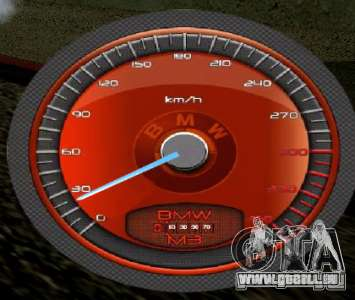 BMW-Tacho für GTA San Andreas