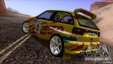 Seat Ibiza Rally pour GTA San Andreas vue de dessous