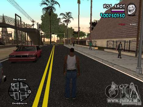 HUD by Hot Shot für GTA San Andreas zweiten Screenshot