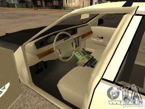 Ford Crown Victoria 1994 Police pour GTA San Andreas sur la vue arrière gauche