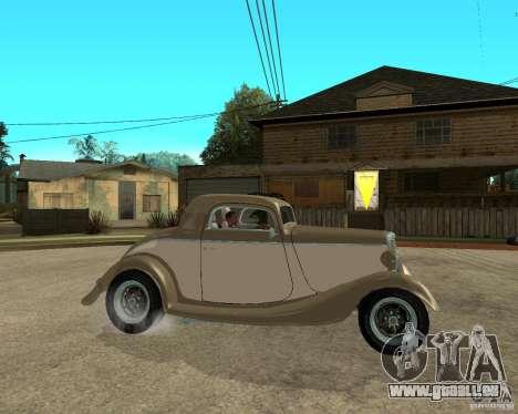Ford 1934 Coupe v2 pour GTA San Andreas vue de droite
