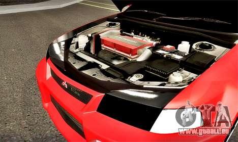Mitsubishi Lancer Evolution 6 pour GTA San Andreas vue intérieure