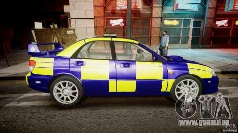 Subaru Impreza WRX Police [ELS] für GTA 4 Innenansicht