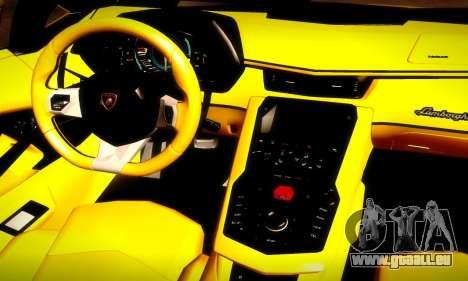 Lamborghini Aventador LP 700-4 für GTA San Andreas obere Ansicht