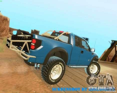 Ford F150 2011 SVT RapTor pour GTA San Andreas vue de dessous