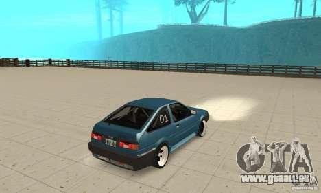 Toyota Sprinter pour GTA San Andreas laissé vue