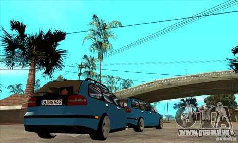 Remorque pour la Volvo V40 pour GTA San Andreas vue de droite