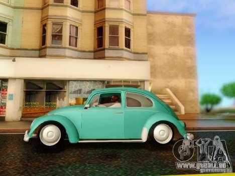 Volkswagen Beetle 1300 pour GTA San Andreas vue de droite