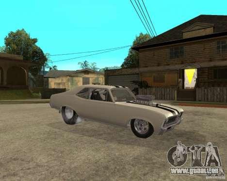 1969 Chevrolet Nova ProStreet Dragger pour GTA San Andreas vue de droite