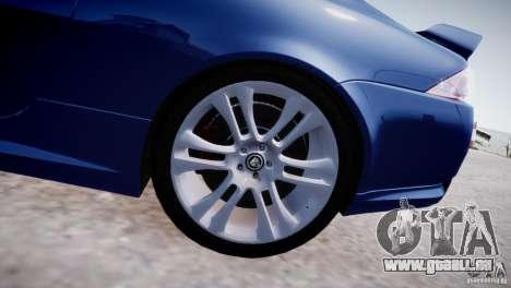 Jaguar XKR-S 2012 pour GTA 4 est une vue de l'intérieur