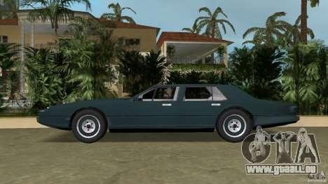 Aston Martin Lagonda (I) 5.3 (1976-1997) pour une vue GTA Vice City de la gauche