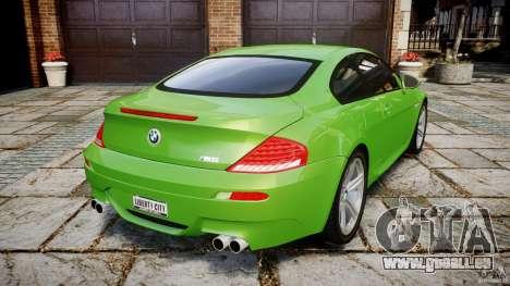 BMW M6 2010 v1.0 für GTA 4 hinten links Ansicht