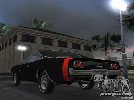 Dodge Charger 426 R/T 1968 v2.0 pour GTA Vice City sur la vue arrière gauche