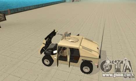 Hummer H1 für GTA San Andreas Rückansicht