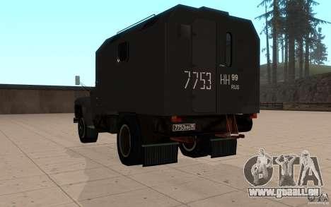 ZIL 130 Radio Butka pour GTA San Andreas sur la vue arrière gauche