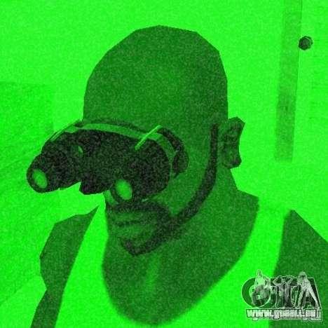 Goggles HD pour GTA San Andreas cinquième écran
