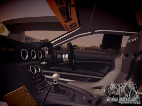 Nissan Silvia S15 Top Secret v2 pour GTA San Andreas vue intérieure