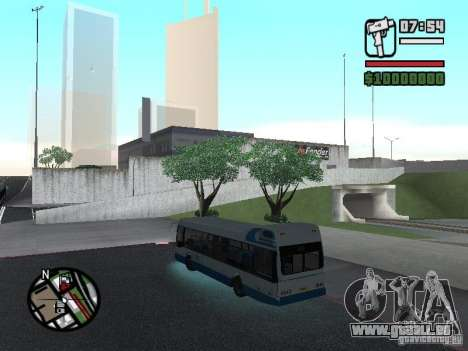 DAF pour GTA San Andreas sur la vue arrière gauche